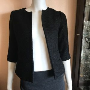 UO Silence + Noise Black Silver Spotted Blazer